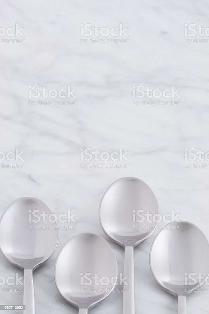 beautiful spoon set royalty-free stock photo
