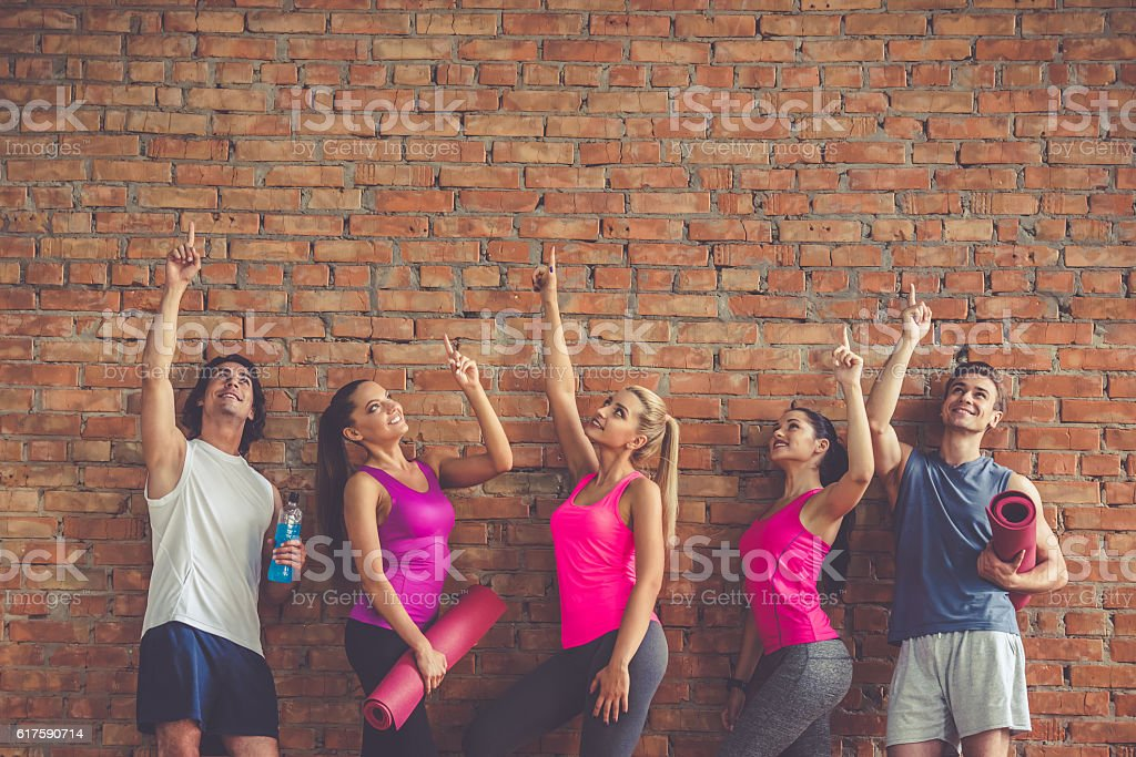 Beautiful sports people stock photo