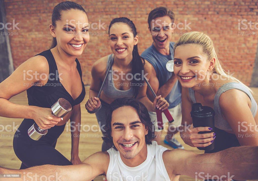 Beautiful sports team - foto de stock