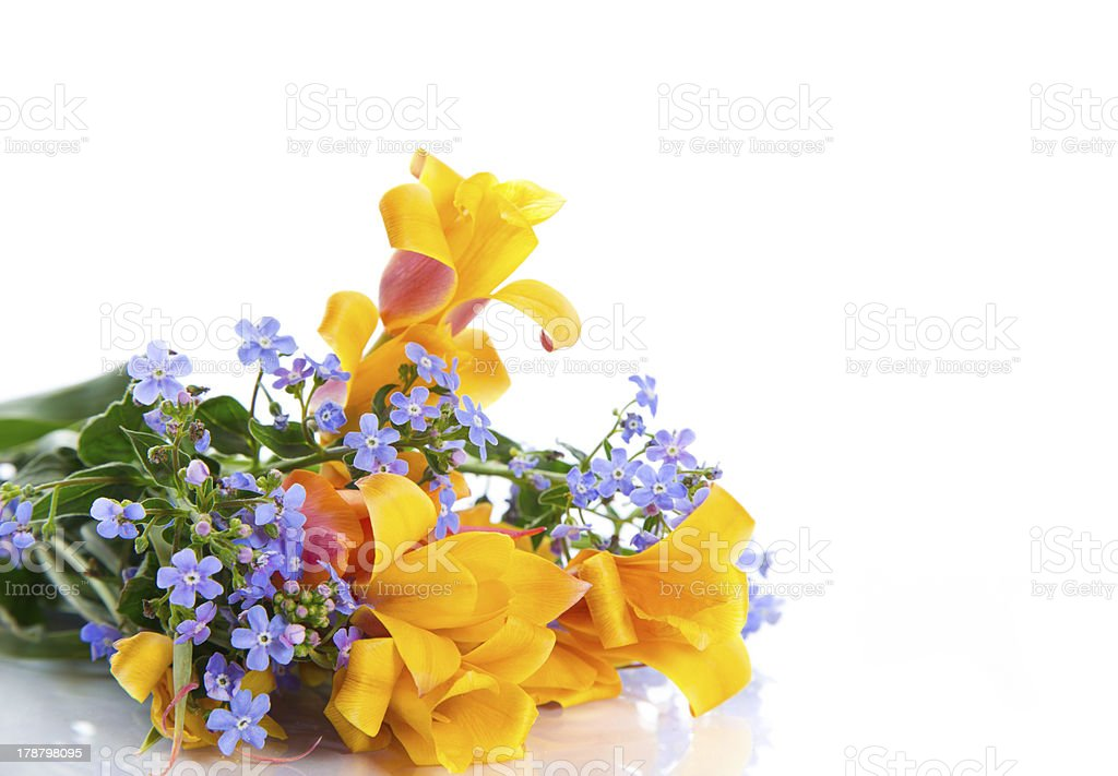 beautiful spring bouquet of flowers royalty-free stock photo