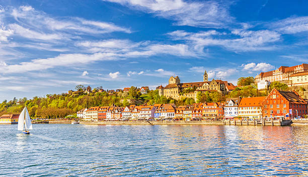 Beautiful spring day in Meersburg at Lake Constance (Bodensee)
