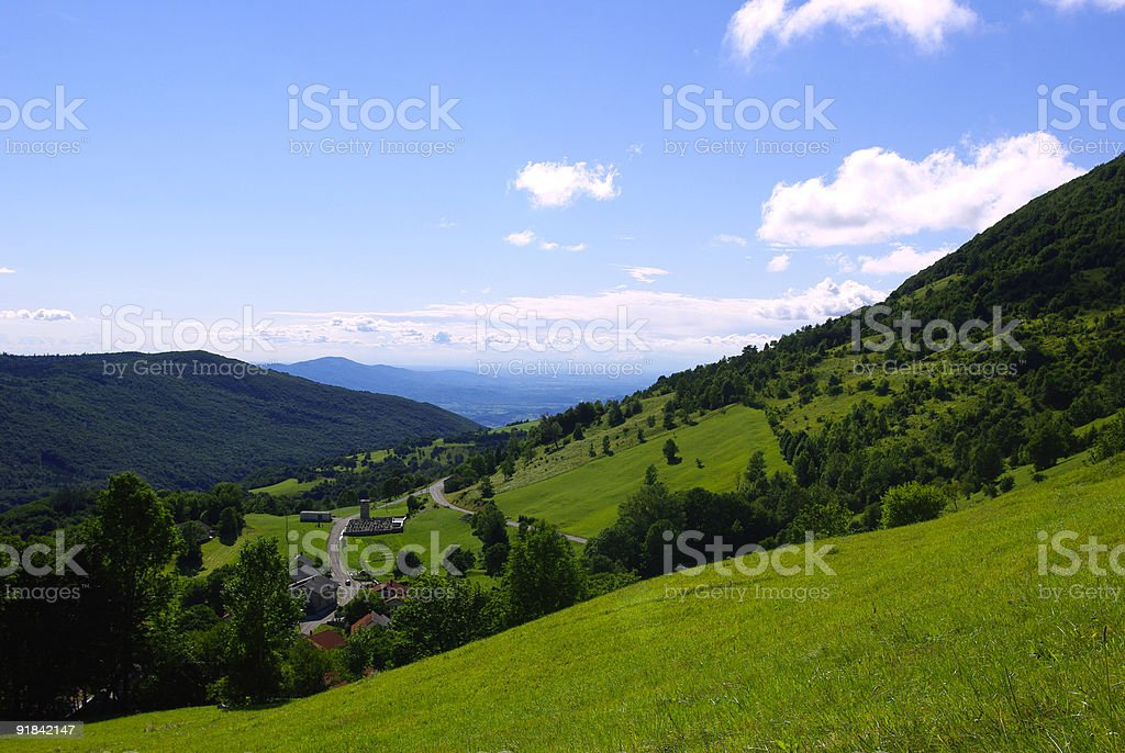 Beautiful spring/summer landscape royalty-free stock photo