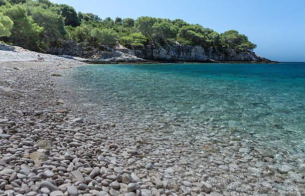 Wunderschöne Srebrna Strand auf der Insel Vis in Kroatien – Foto
