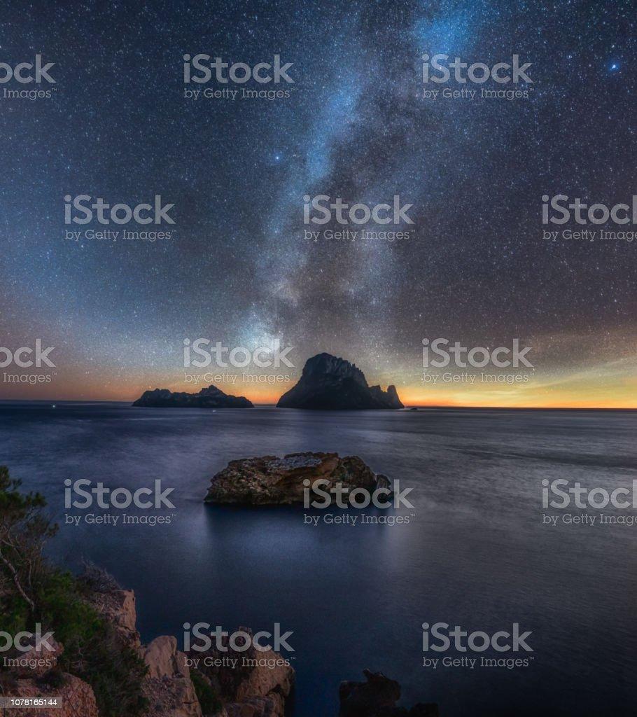 Beautiful starscape royalty-free stock photo
