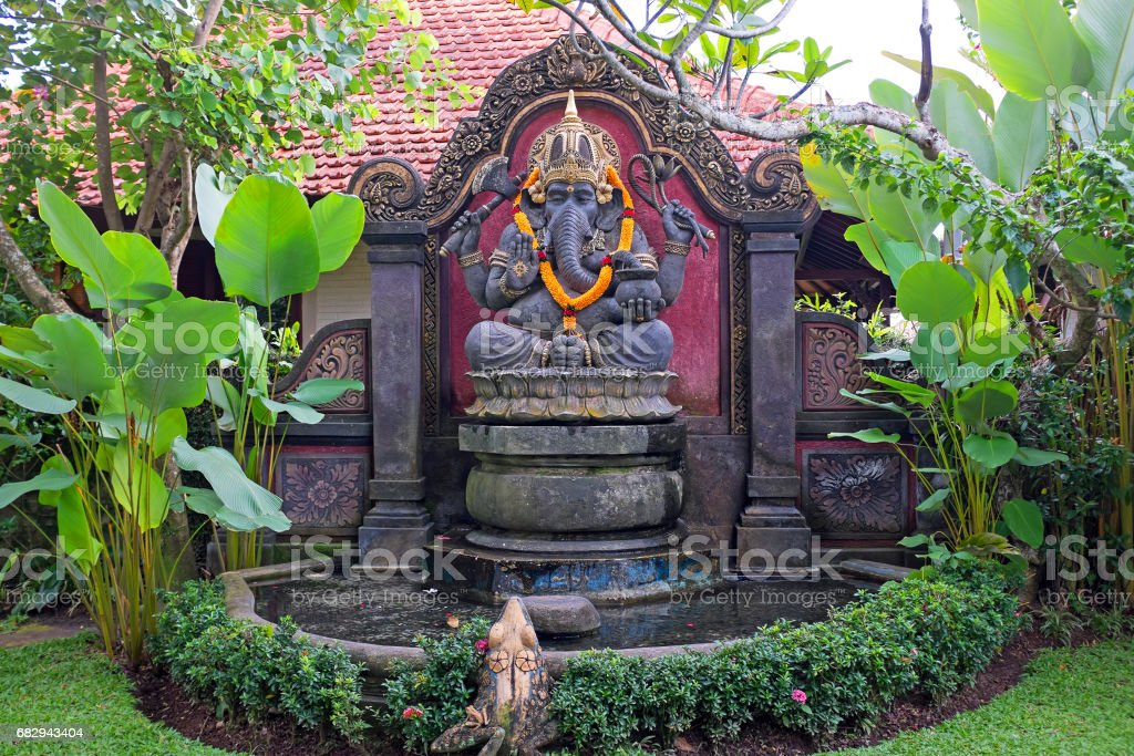 Beautiful statue from Hanuman in a garden on Bali Indonesia royalty-free stock photo