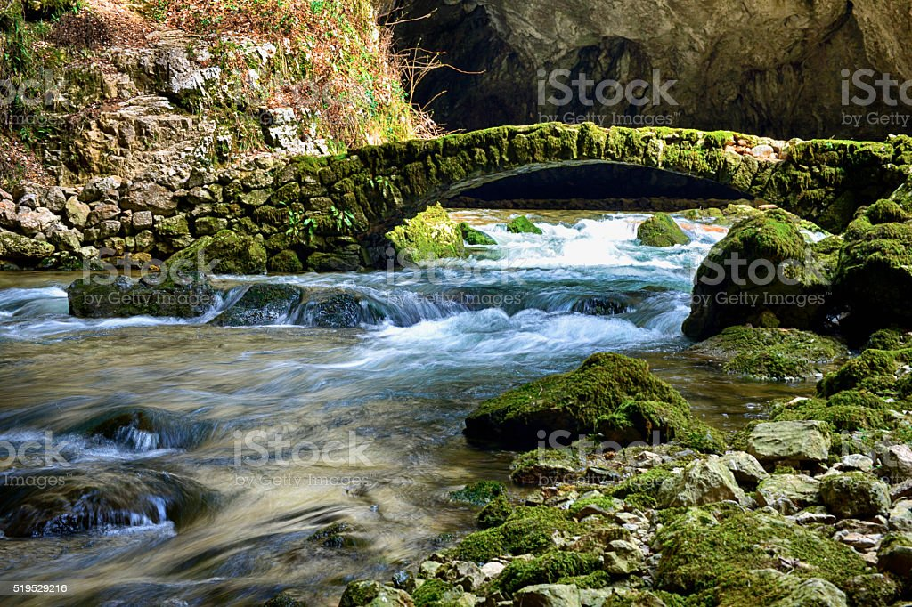 Beautiful stone bridge stock photo