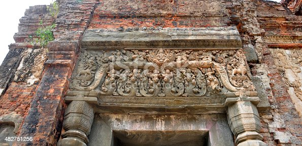 istock Beautiful stone  carving of  Preah Ko Wat in  Siem Reap 482751256