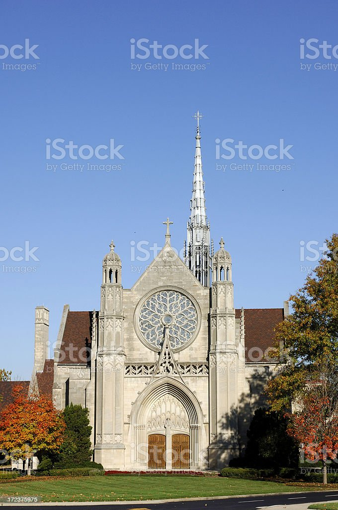 Beautiful Stone Church stock photo