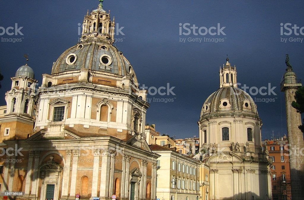 Beautiful Storm over Italy royalty-free stock photo