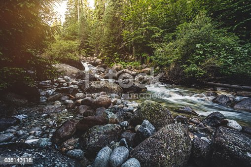 Beautiful stream in mountains