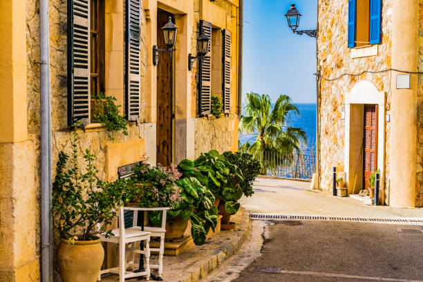 Rue de la belle dans le village de Banyalbufar sur l'île de Majorque, Espagne - Photo