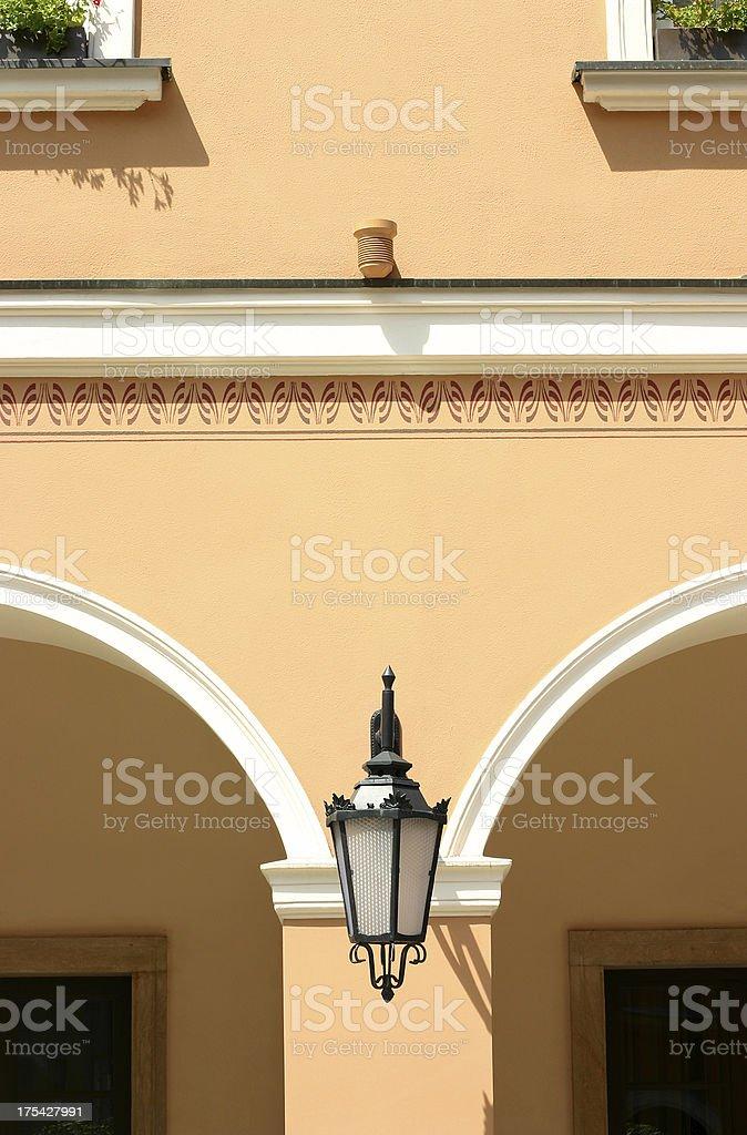 Beautiful street lamp. royalty-free stock photo