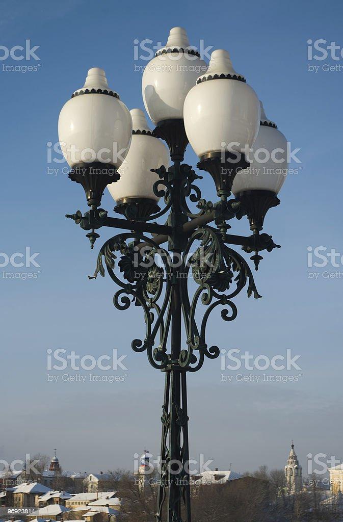 Beautiful street lamp royalty-free stock photo