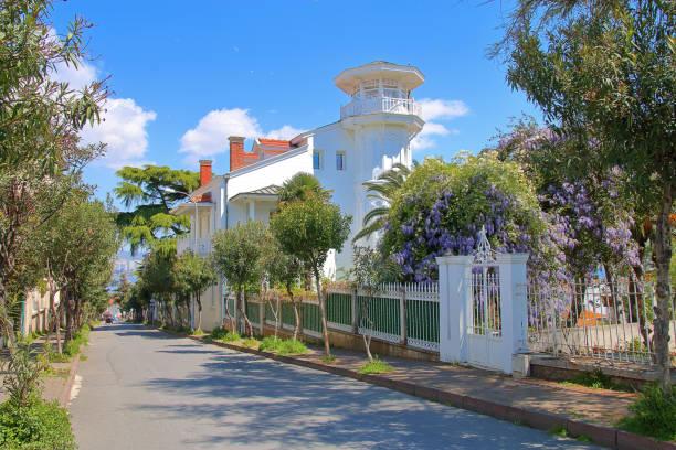 Beautiful street of the island Buyukada.