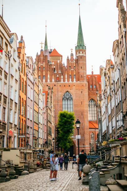 Schöne Straßen von Danzig – Foto