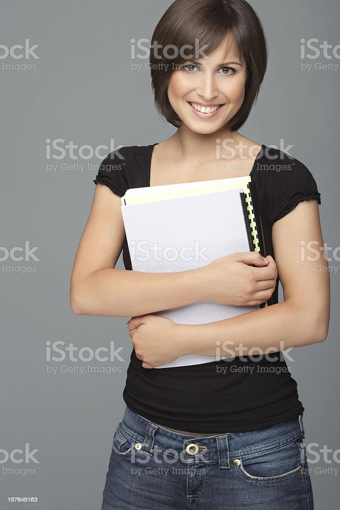 Beautiful Student Back To School royalty-free stock photo