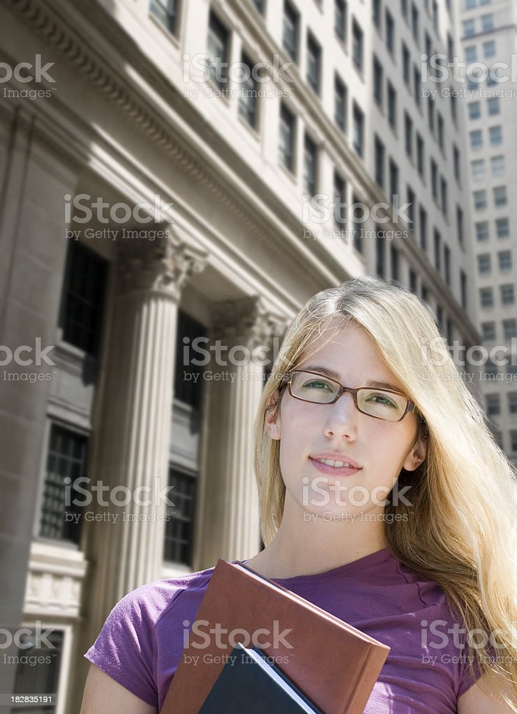 Beautiful Student royalty-free stock photo