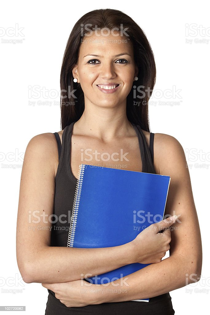 Beautiful student woman stock photo