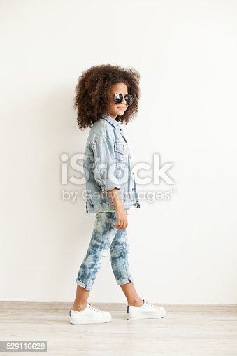 istock Beautiful stylish little girl 529116628