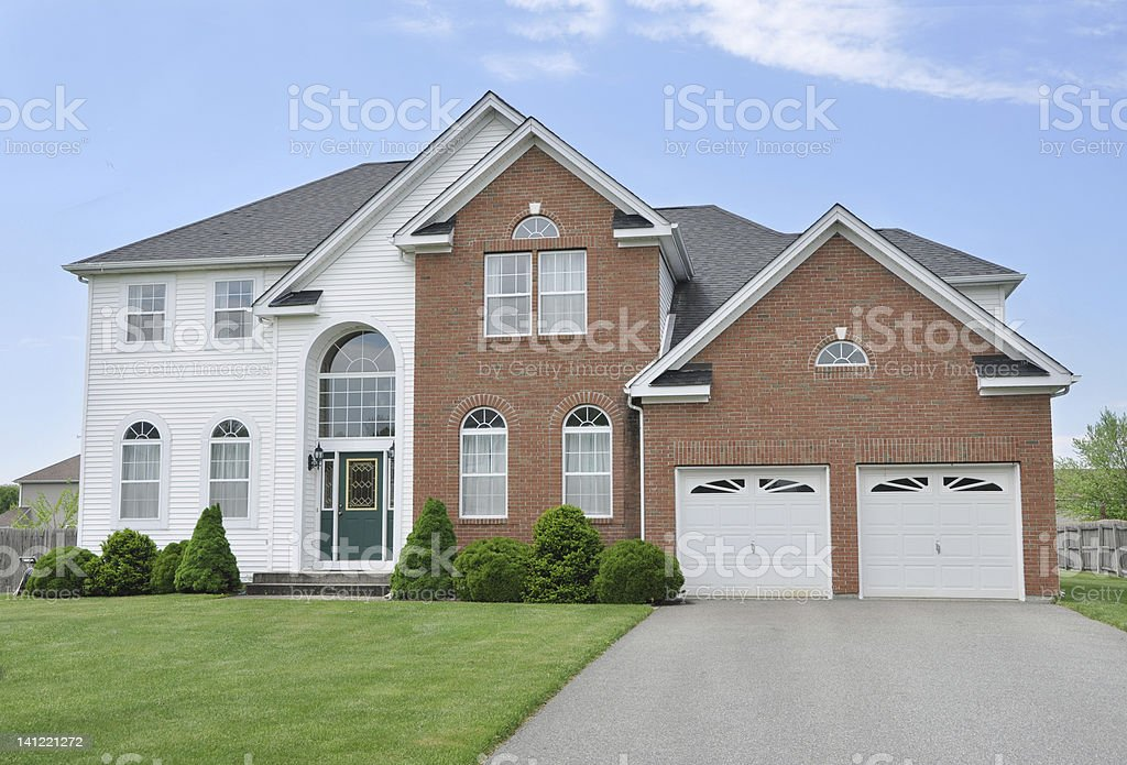 Beautiful Suburban Home stock photo