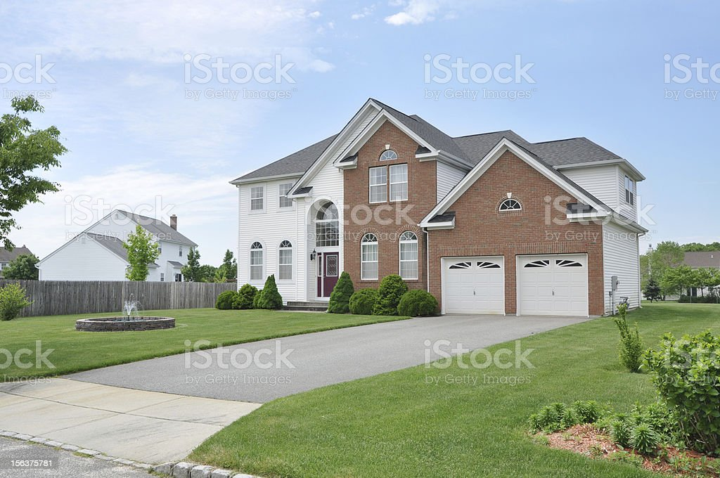 Beautiful Suburban Home stock photo