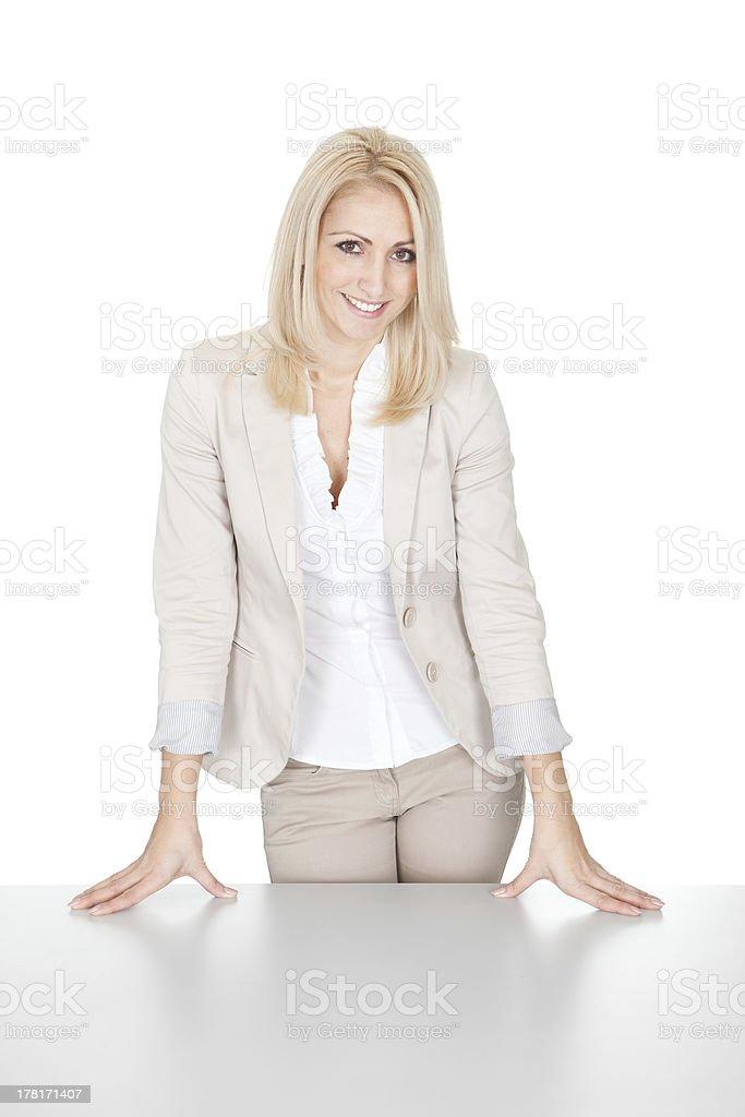 Beautiful successful businesswoman stock photo