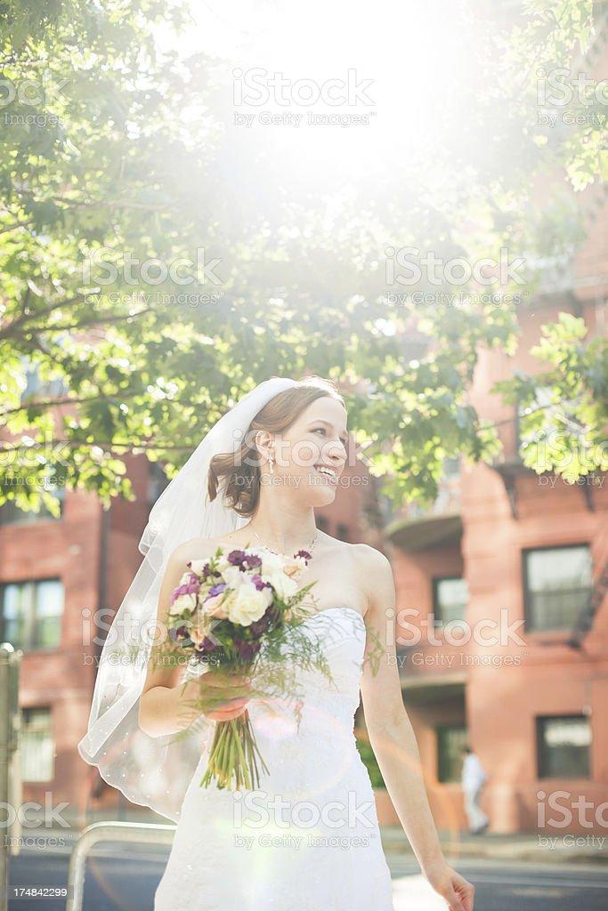 Beautiful Summer Bride Outdoors royalty-free stock photo