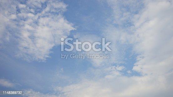876037346 istock photo Beautiful summer cumulus clouds soft background 1148389732