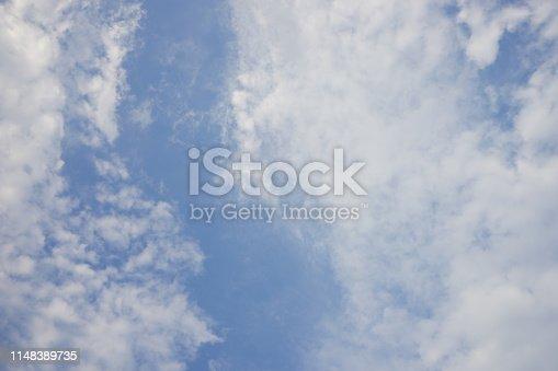 876037346 istock photo Beautiful summer cumulus clouds soft background 1148389735