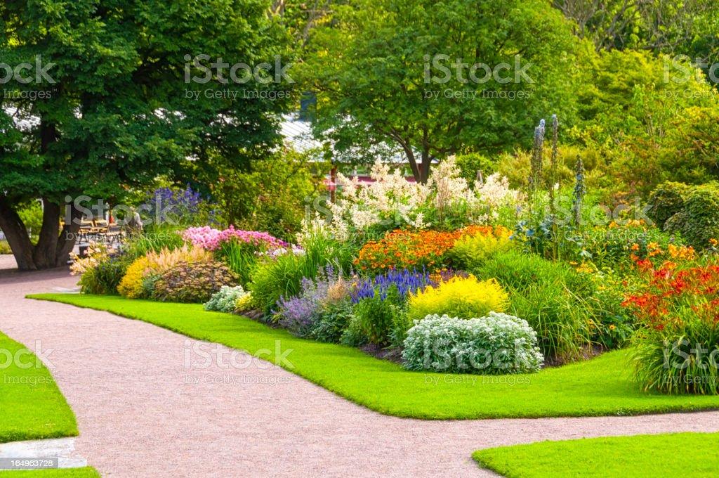 Beautiful summer garden foto