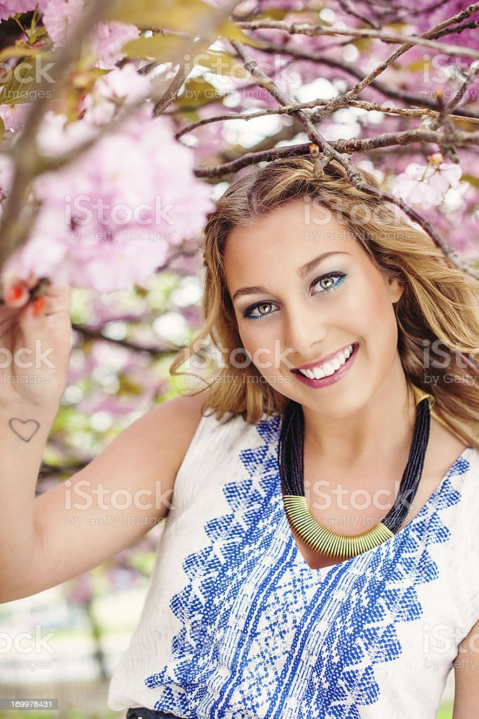 Beautiful summer girl royalty-free stock photo
