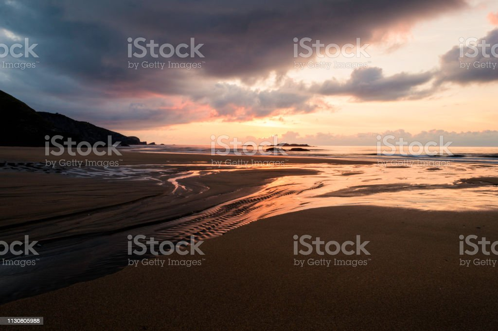 Beautiful Summer Golden Sunset Above The Black Seawith Calm