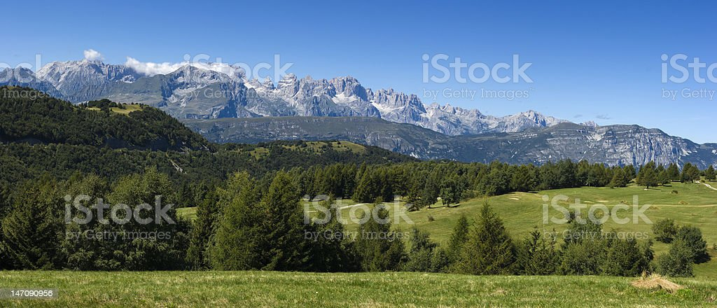 Beautiful summer mountain landscape royalty-free stock photo