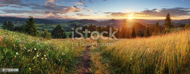 istock Beautiful summer panoramic landscape in mountains - Pieniny / Tatras, Slovakia 817306496