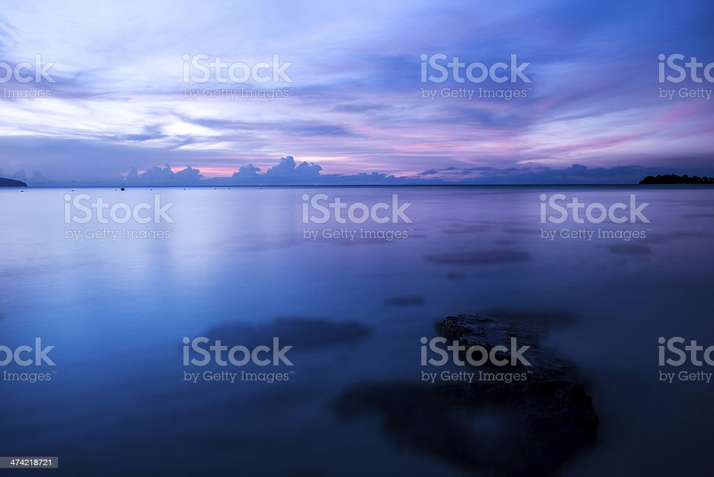 Beautiful summer seascape royalty-free stock photo
