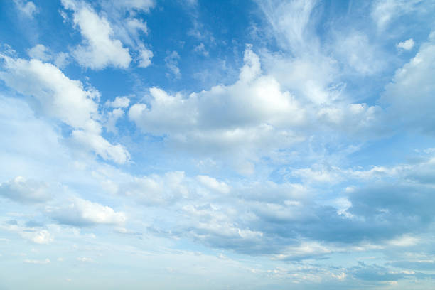 Beautiful summer sky stock photo