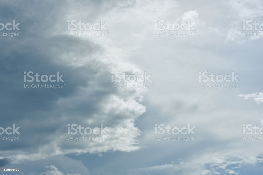 Beautiful summer sky with beautiful clouds stock photo