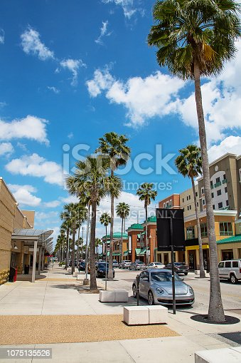 640042252 istock photo beautiful summer street with palm trees 1075135526