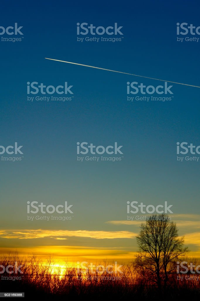Beautiful summer sunset stock photo