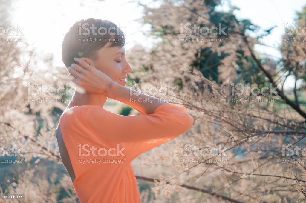 Beautiful summer woman zbiór zdjęć royalty-free