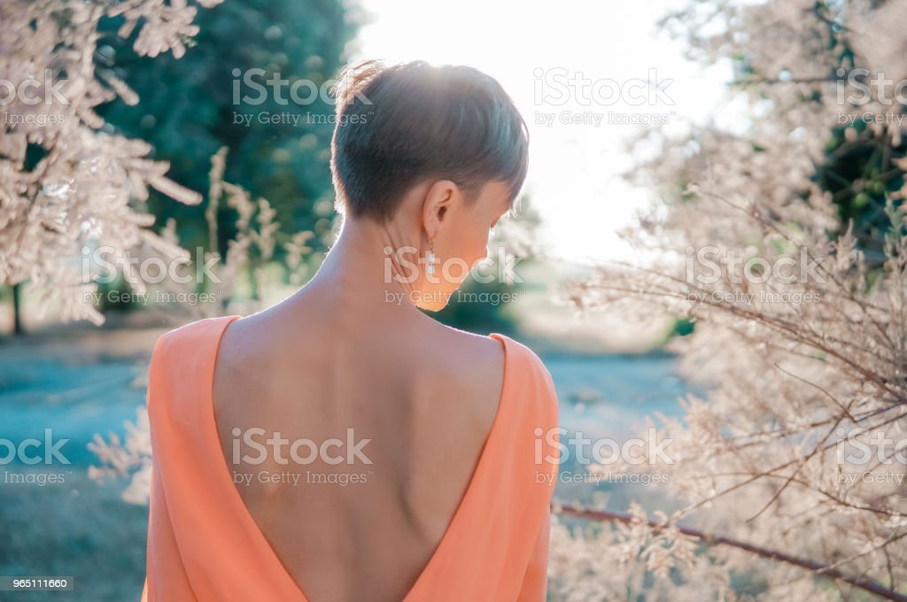 Beautiful summer woman royalty-free stock photo