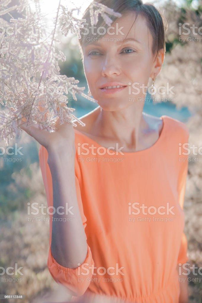 Beautiful summer woman royalty-free stock photo