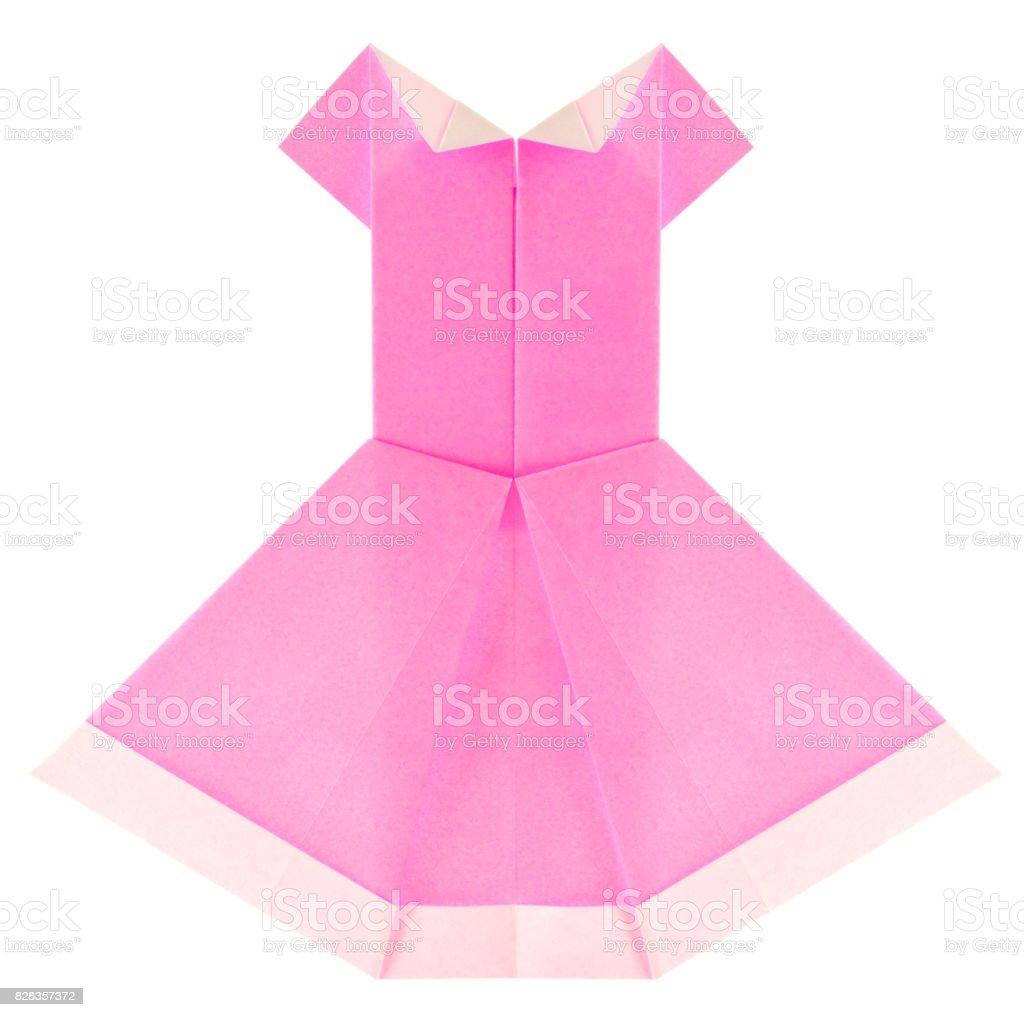 Hermoso Vestido Veraniego Rosa De Origami Foto De Stock Y