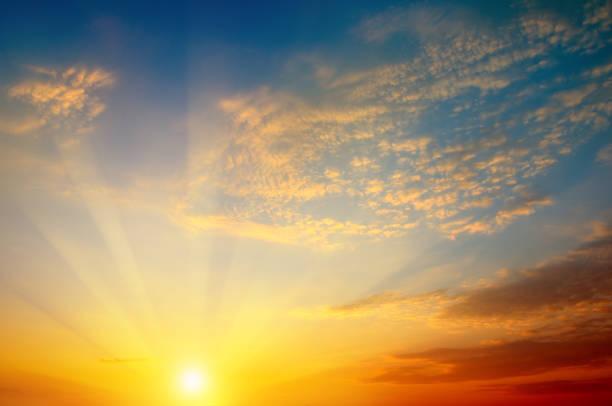 beautiful sun rise and cloudy sky beautiful sun rise and cloudy sky horizon over land stock pictures, royalty-free photos & images