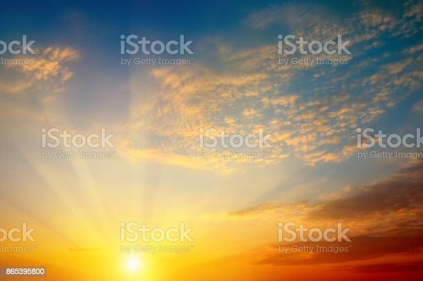 Photo of beautiful sun rise and cloudy sky