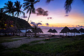 beautiful sun rising sky at koh tao island most popular traveling destination in southern of thailand