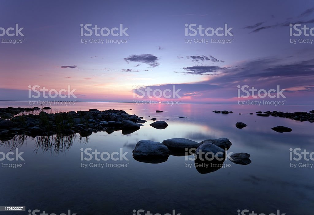 Beautiful sundawn over the ocean. royalty-free stock photo