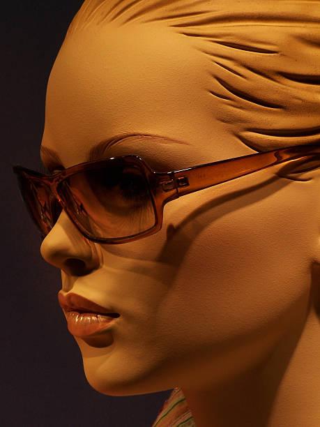 Beautiful sunglasses dummy girl stock photo