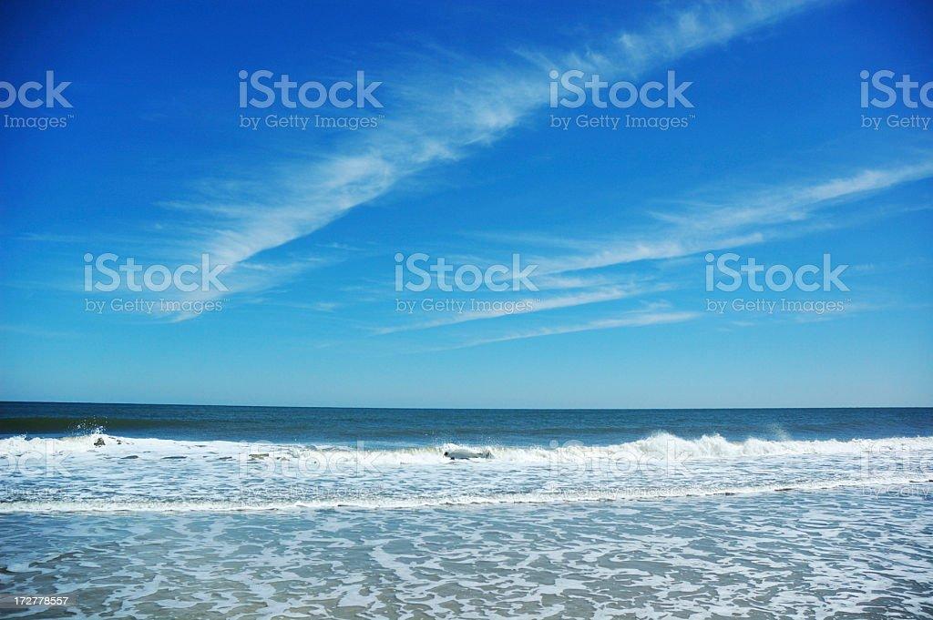 Beautiful Sunny Day at Fernandina Beach Amelia Island stock photo