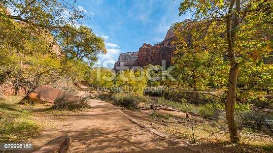 A scenic view is seen from EMERALD POOLS TRAIL, Zion National Park, Utah, USA